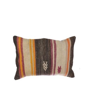Striped Vintage Large Kilim Pillow