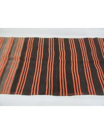 Black Orange Striped Kilim Runner