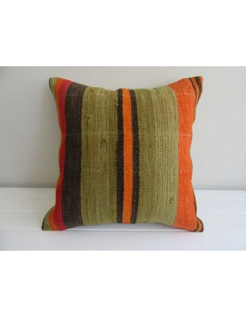 Striped handmade Turkish kilim pillow