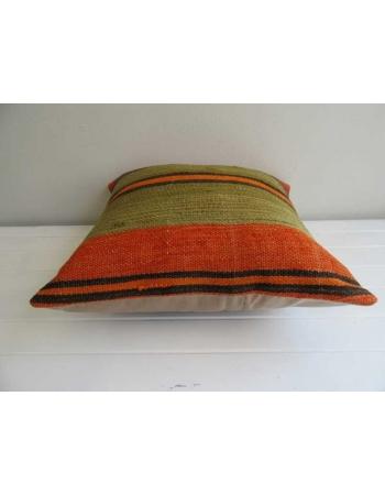 Striped handmade Turkish kilim pillow