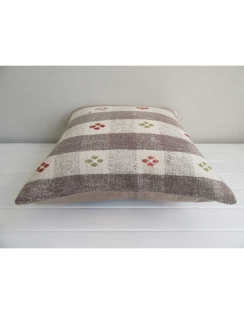 Embroidered vintage decorative kilim pillow cover