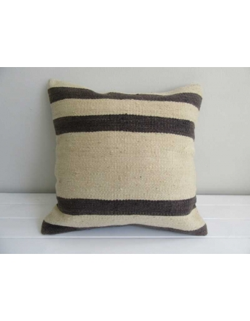 Handmade black and white vintage kilim cushion cover
