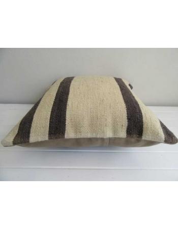 Handmade black and white vintage kilim cushion cover