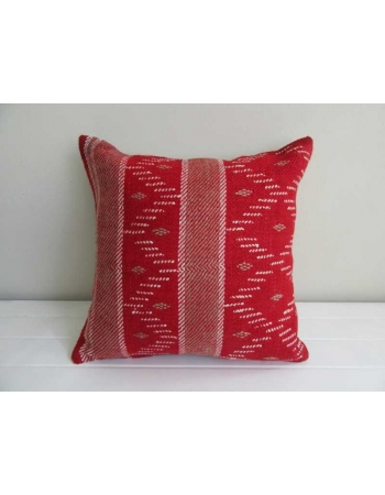 Red vintage Turkish kilim pillow