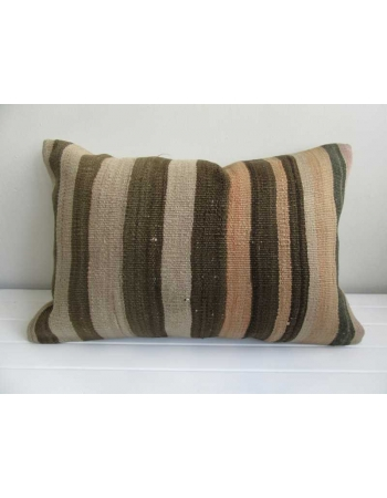 Striped decorative vintage kilim pillow cover