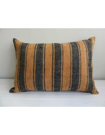 Striped decorative vintage kilim pillow