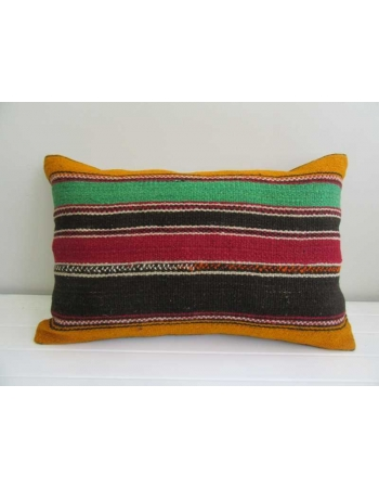 Vintage striped decorative kilim pillow