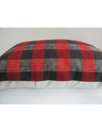 Decorative red and black kilim pillow cover