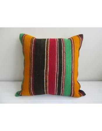 Striped decorative Turkish kilim pillow cover