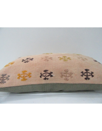 Vintage Embroidered Decorative Kilim Pillow