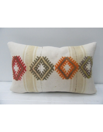 Embroidered Vintage Kilim Pillow