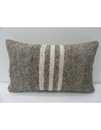 Gray & White Striped Kilim Pillow