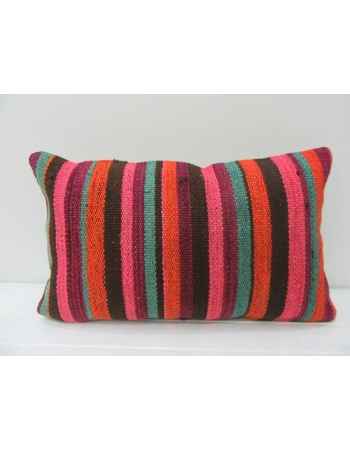 Striped Vintage Colorful Kilim Pillow