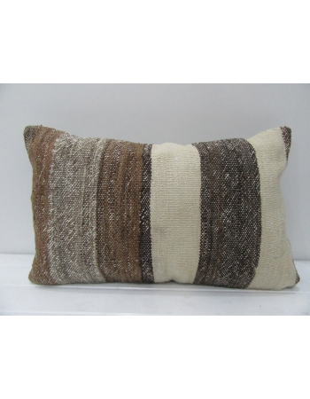 Brown Striped Vintage Kilim Pillow