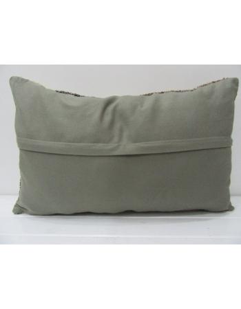 Brown Striped Vintage Kilim Pillow