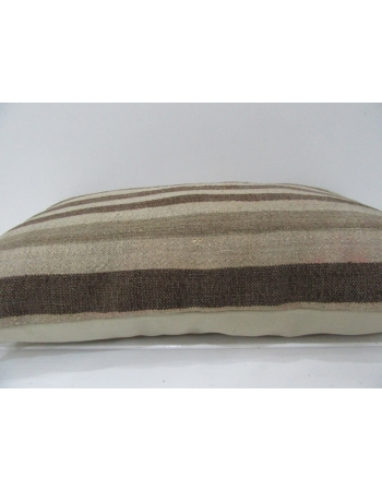 Brown & Tan Striped Kilim Pillow