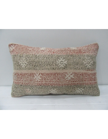 Vintage Embroidered Decorative Kilim Pillow