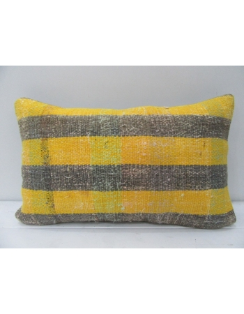 Gray & Yellow Striped Kilim Pillow