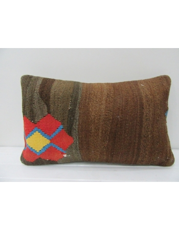 Vintage Brown & Orange Kilim Pillow