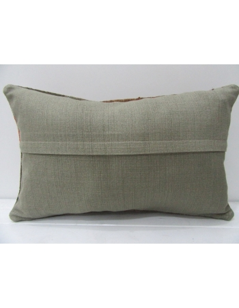 Vintage Brown & Orange Kilim Pillow