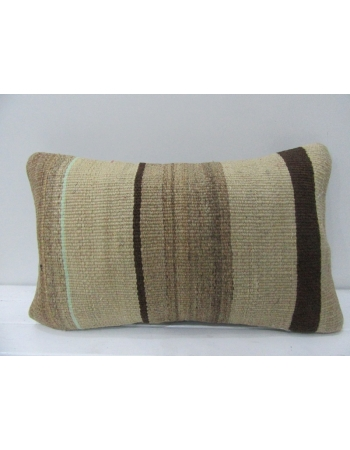 Handmade Vintage Brown Kilim Pillow