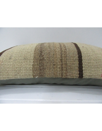 Handmade Vintage Brown Kilim Pillow