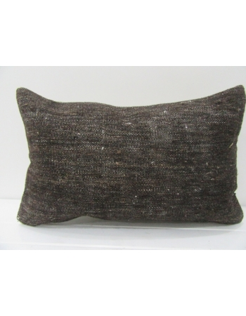 Dark Brown Vintage Kilim Pillow
