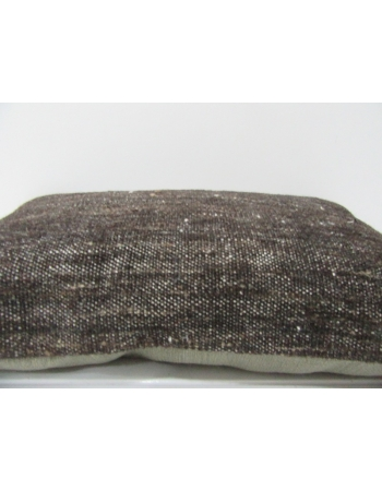 Dark Brown Vintage Kilim Pillow