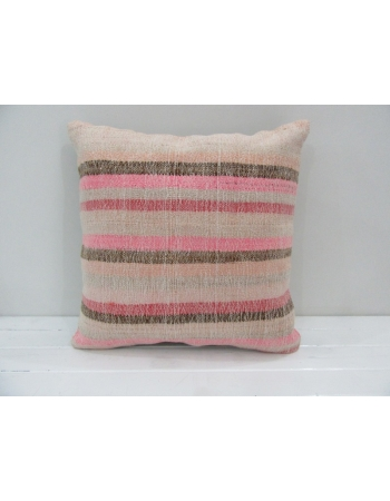 Pink Striped Handmade Kilim Pillow