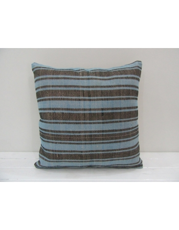 Blue / Black Striped Kilim Pillow Cover