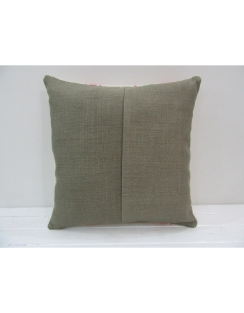 Coral / White Cotton Kilim Pillow