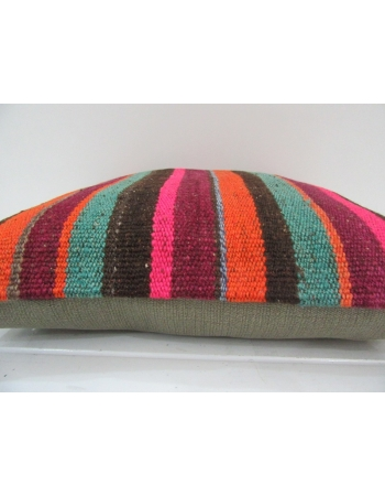 Striped Colorful Handmade Kilim Pillow