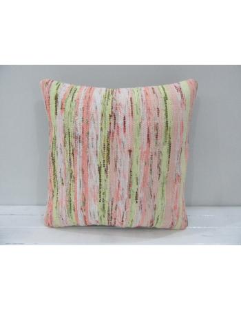 Green / Pink Handmade Kilim Cover