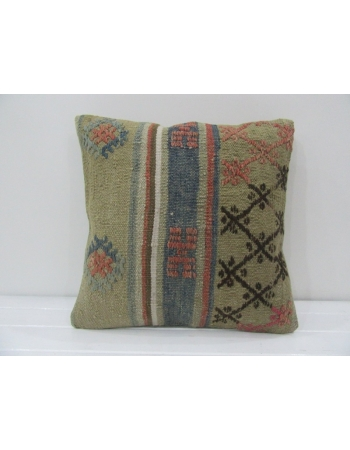 Vintage Handmade Embroidered Kilim Pillow