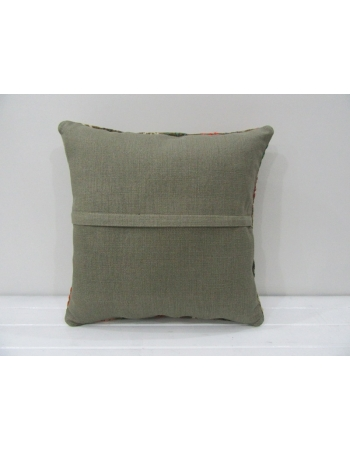 Vintage Embroidered Unique Kilim Pillow