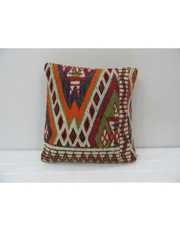 Embroidered Unique Vintage Kilim Pillow