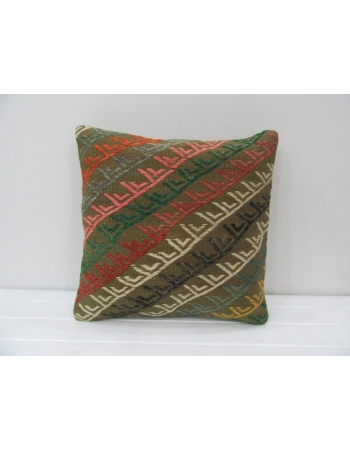 Handmade Embroidered Turkish Kilim Pillow