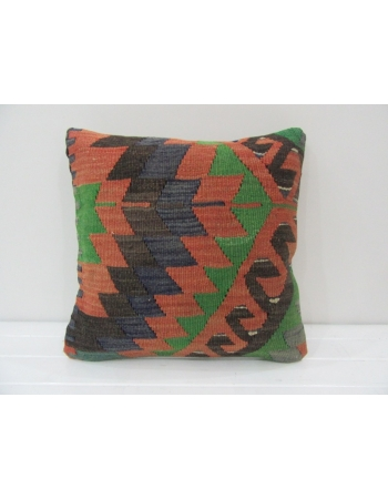 Decorative Vintage Turkish Kilim Pillow