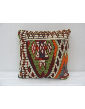 Embroidered Turkish Kilim Pillow