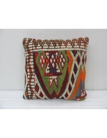 Embroidered Turkish Kilim Pillow