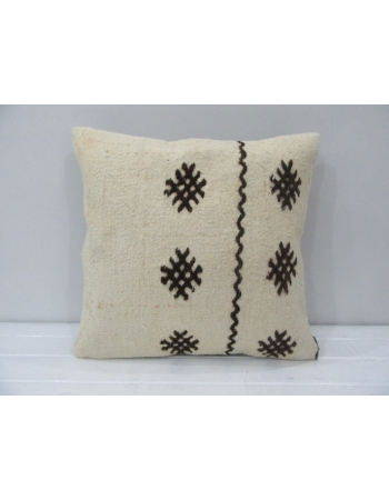 Embroidered Vintage Turkish Kilim Pillow