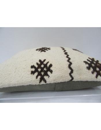 Embroidered Vintage Turkish Kilim Pillow