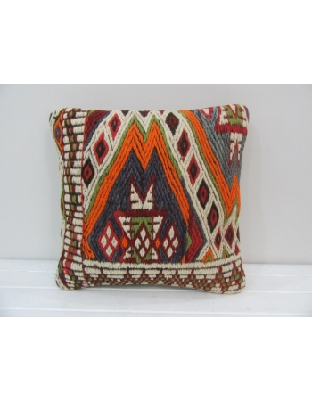 Vintage Embroidered Kilim Pillow