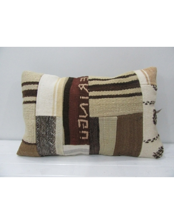 Vintage Natural Kilim Patchwork Pillow
