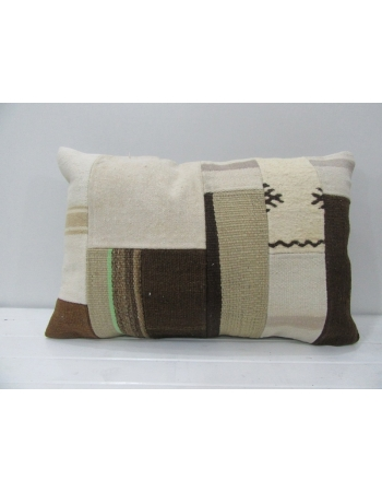 Natural Vintage Kilim Patchwork Pillow