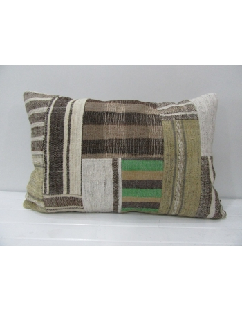 Green / Gray Vintage Patchwork Pillow