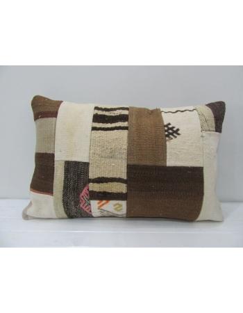 Vintage Ivory / Brown Kilim Pillow