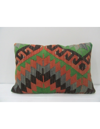 Green / Rust Vintage Kilim Pillow