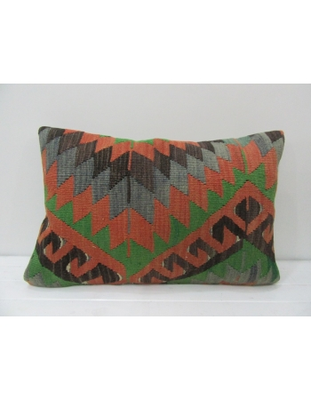 Vintage Rust / Green / Faded Blue Pillow