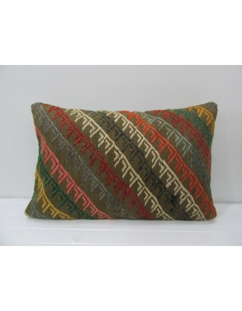 Vintage Embroidered Kilim Pillow